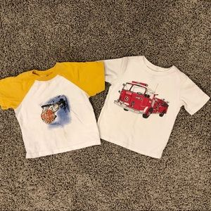 5/$25 Bundle of 2 toddler boy tshirts 2T